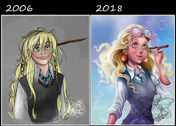 Before and After Luna Lovegood by IriusAbellatrix
