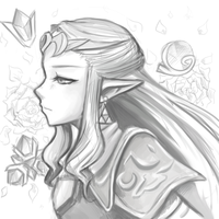 Quick Sketch: Zelda from OoT by PokuriMio