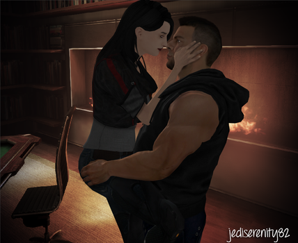 Kiss Me - James and Rennah {Mass Effect} by jediserenity82