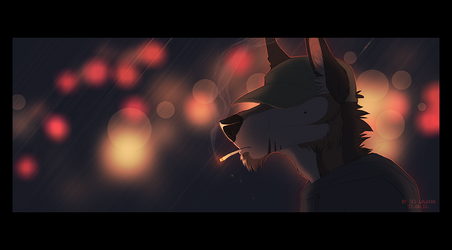 Lonely Night In City Lights by LiLaiRa