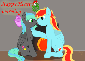 Flamelight and Starfire Xmas Pic by Flamelight-Dash