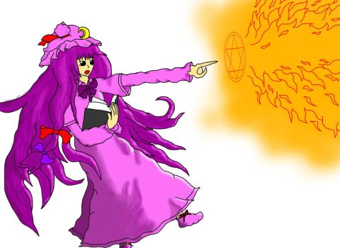 Patchouli Knowledge: Sun Sign Royal Flare by XilverGreen