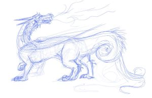Dragon sketch blah by shottsy85