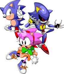 Sonic CD by Drawloverlala