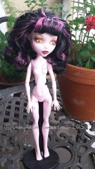 Draculaura Monster High Doll OOAK Repaint by ChrysalisCreations