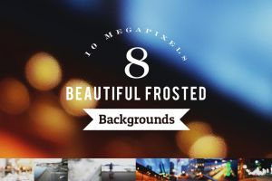 8 Beautiful Frosted Backgrounds by pstutorialsws
