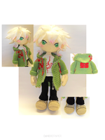 Komaeda Nagito crochet doll by Tia-tony