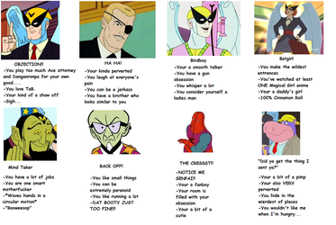 Harvey Birdman Tag yourself by Tiffany-chan123
