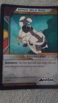 My avatar card that came in a comic book wild ride by RhinoWing