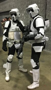 AC2018 Scout Troopers with EC-17 and DLT-19X Guns by rlkitterman
