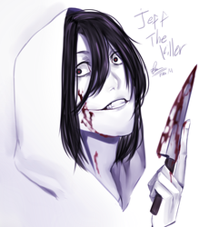 Jeff The Killer painting 2018 by FikaM05