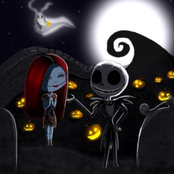 Jack x Sally by MNS-Prime-21