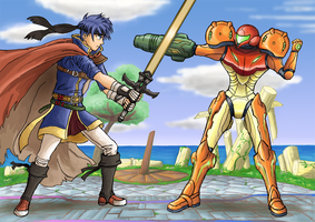 Ike VS Samus by Just-A-Michael