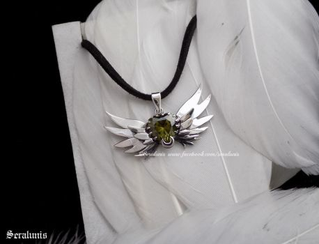 'Sailor senshi', handmade sterling silver pendant by seralune