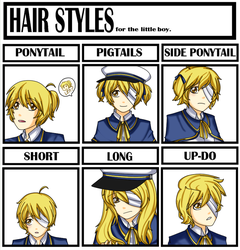 Hair style meme Oliver by happywell