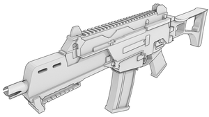 Uncoloured G36C by Jordach