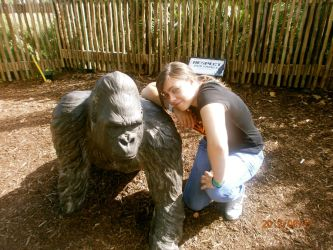 Me and a Gorilla :D (London Zoo) by Colorful-Kaiya