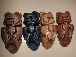 Painted Brother Bear Love Totems by Demite