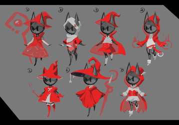 Design: Kitty mages by DroseAttack