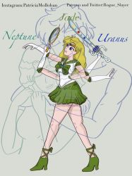 Sailor Uranus and Sailor Neptune Fusion by Rogue-Slayer