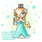 Rosalina and Luma Chibi by kozmica64