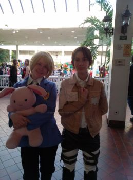 AOT and OHSHC Cosplay 2014 Evillecon by StormyNight79