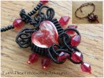 Faithful heart necklace by Antonymi1