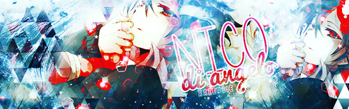 nico di angelo [ banner ] by CrunchybellxkLC