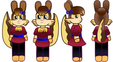 Chibi Victoria the bunny new style Reference by Vickicutebunny