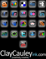 Black Square Social Media Icon by claycauleyinc