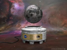 Apollo 11 Autographed Levitating Moon by VickyM72
