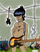 Murdoc in Guitar room'colored' by GhettoRainbowCat