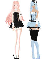 - mmd update - Coco and Kiku by NoUsernameIncluded