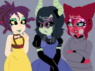 Monster Girls by SoundwaveGirl