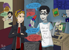 Yogscast Fanart: Collegecast blood magic by Elyfar