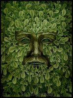 Green Man - Oak King by DarkLiminality