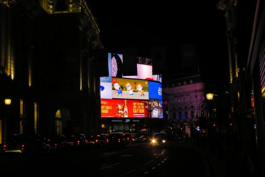 Piccadilly Circus at night by dali-47