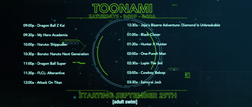 Toonami Expands to 9pm! by JPReckless2444