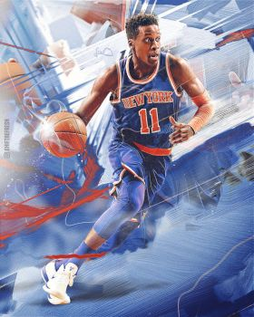 Frank Ntilikina NBA Wallpaper / Poster by skythlee