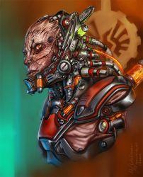 Special weapon and tactics strogg by Inkary
