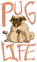 T-Shirt Design: PUG LIFE by LittleMeesh
