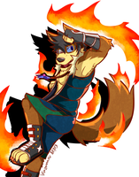 The Flaming Wolf by Vent-Kazemaru