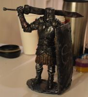 Dark Souls Black Iron Tarkus statue by futantshadow