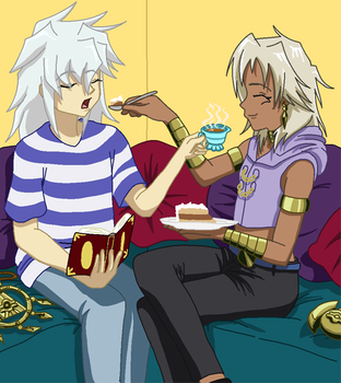Tea and Cake Time - YuGiOh fanart remade by AishaPachia