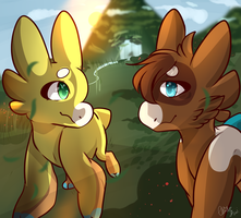 Lyssa and Clarifity by ElusiveKiwi