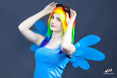 Casual Rainbow Dash Cosplay - My Little Pony by ddenizozkan
