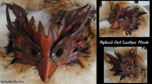 Steampunk Spliced Owl Mask by Epic-Leather