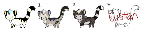 Derp Cats (CLOSED) by 1-800-ADOPT