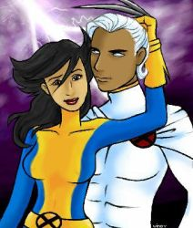 Wolverine and Storm by puri