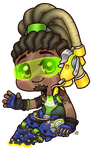Chibi Overwatch: Lucio by roseannepage